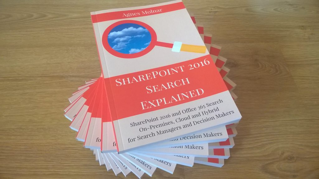 SharePoint 2016 Search Explained book on paper http://amzn.to/1SIv183